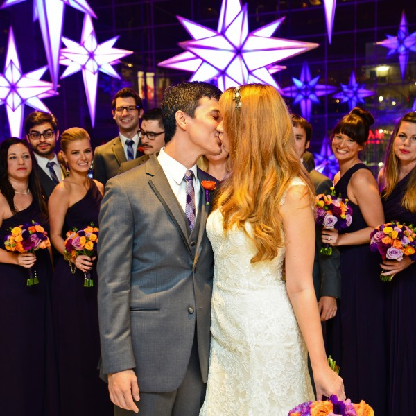 Lindsay Elizabeth and Jean Louis marry at Housing Works Bookstore Cafe in NYC