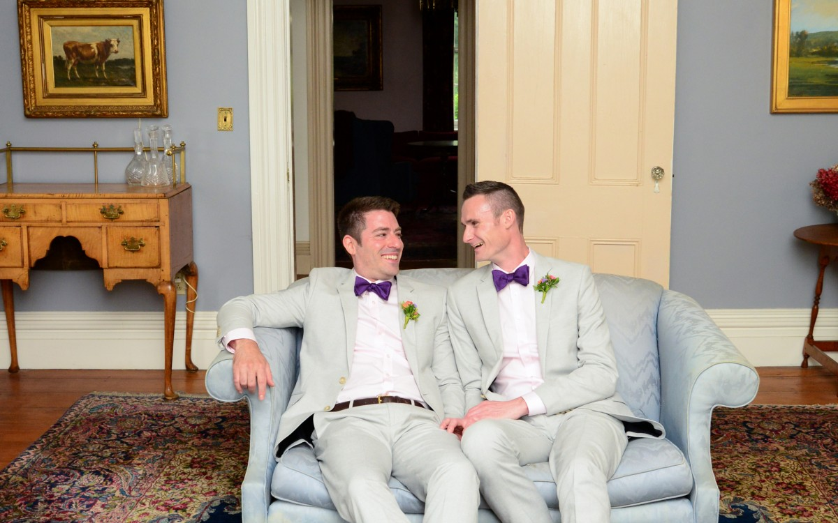 Daniel and Sune Marry at Tralee Farms in Stone Ridge