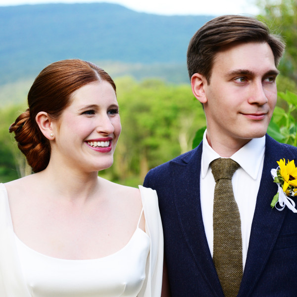 Kathryn and Michael are married at her family home in Woodstock, NY