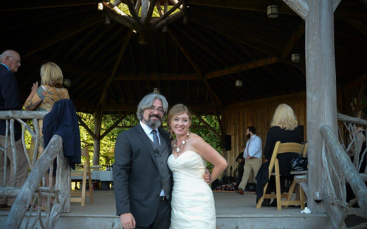 Wedding at Slingerland Pavillion in the Mohonk Preserve